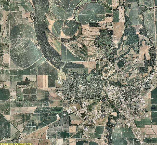 Coahoma County, Mississippi aerial photography