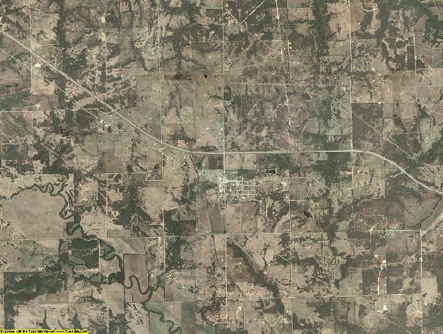 Coal County, Oklahoma aerial photography