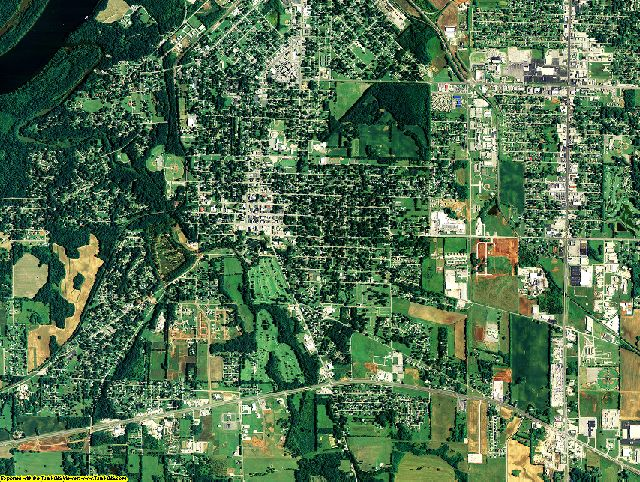 Colbert County, Alabama aerial photography