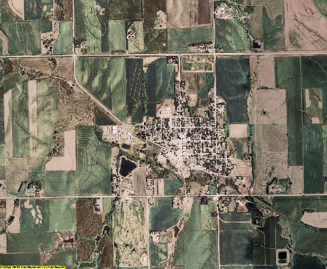 Colfax County, Nebraska aerial photography