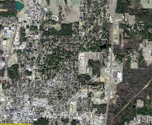 Columbia County, Arkansas aerial photography