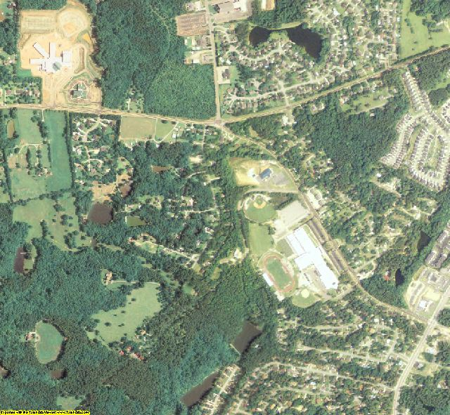 Columbia County, GA aerial photography detail