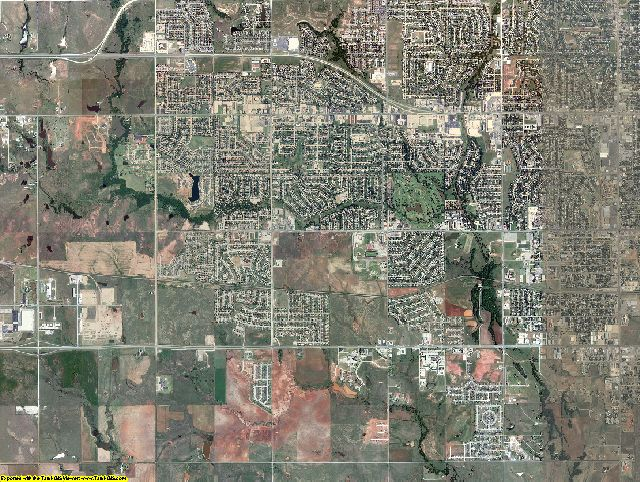 Comanche County, Oklahoma aerial photography