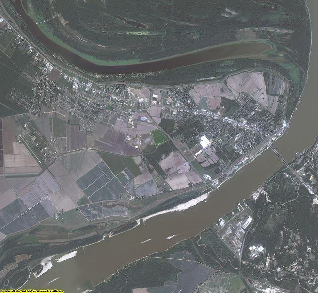 Concordia County, Louisiana aerial photography