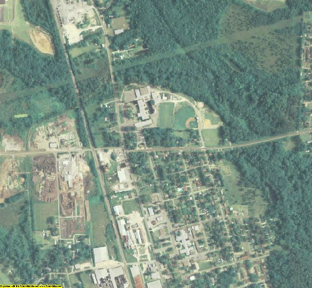Cook County, GA aerial photography detail