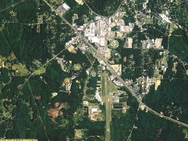 Coosa County, Alabama aerial photography