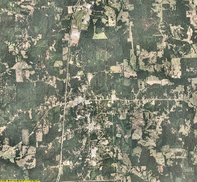 Copiah County, Mississippi aerial photography
