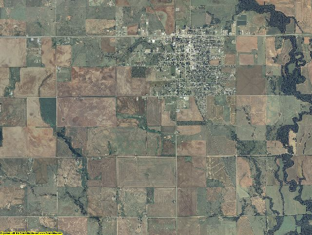 Cotton County, Oklahoma aerial photography