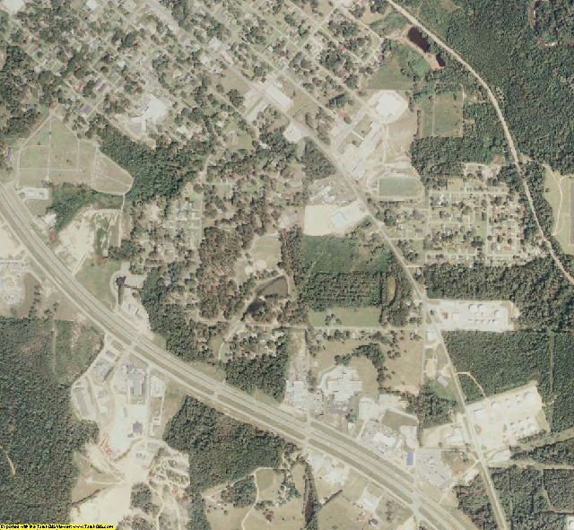 Covington County, MS aerial photography detail