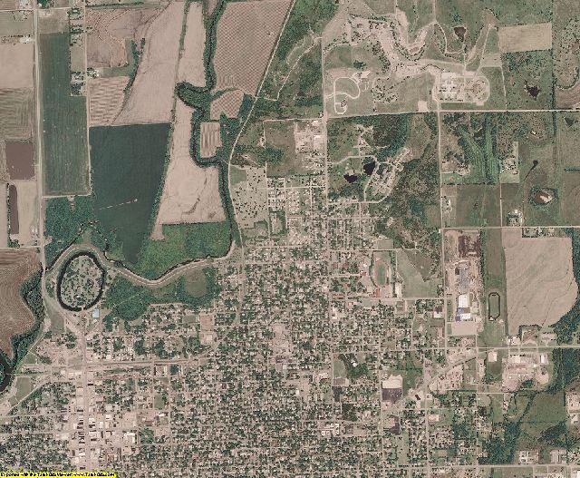 Cowley County, Kansas aerial photography