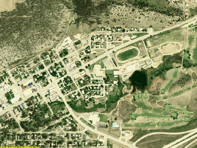 Crook County, WY aerial photography detail