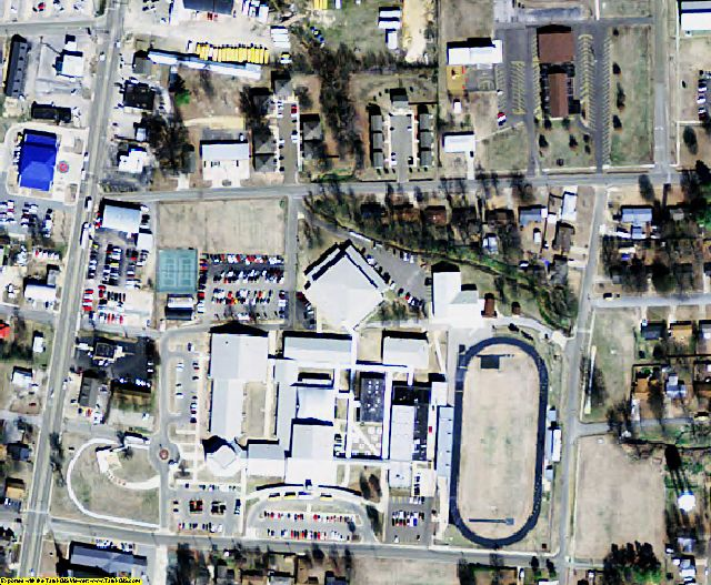 Cross County, AR aerial photography detail