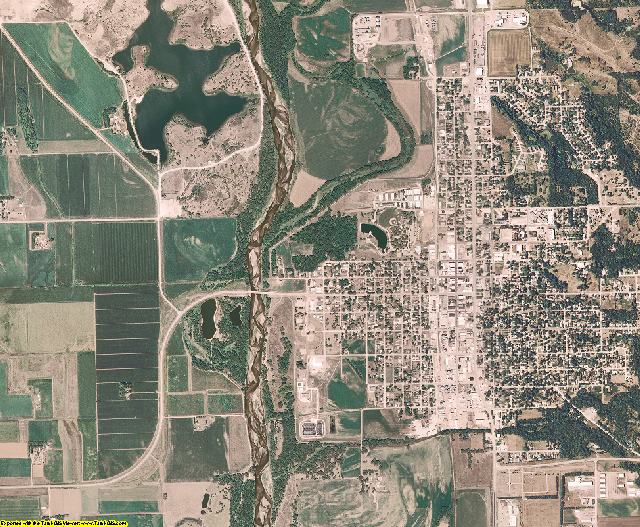 Cuming County, Nebraska aerial photography