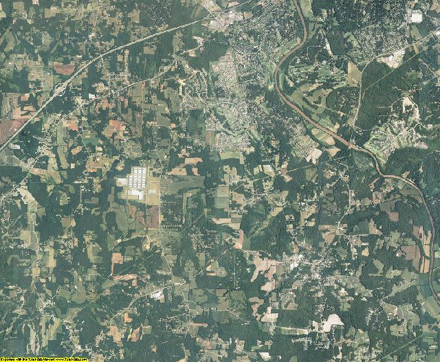 Davie County, North Carolina aerial photography