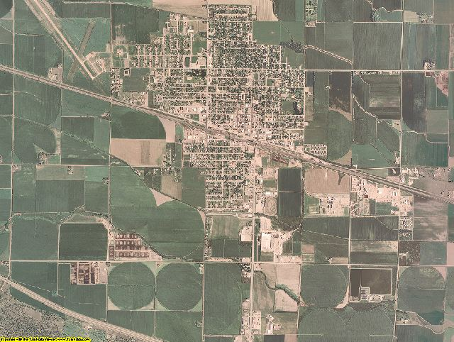 Dawson County, Nebraska aerial photography