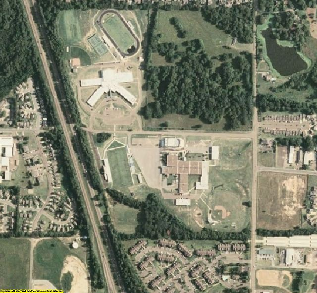 DeSoto County, MS aerial photography detail