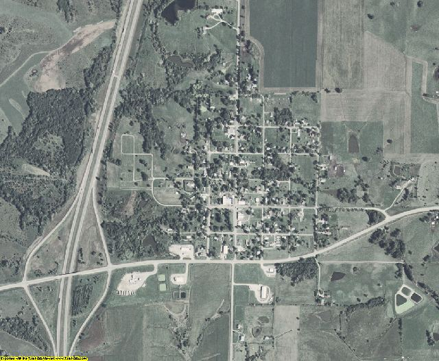 Decatur County, Iowa aerial photography