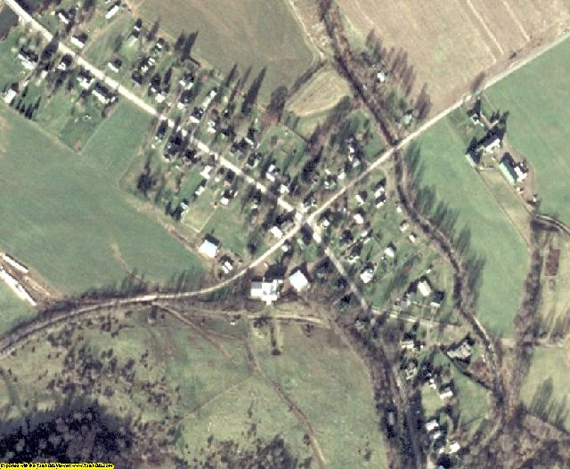Delaware County, NY aerial photography detail