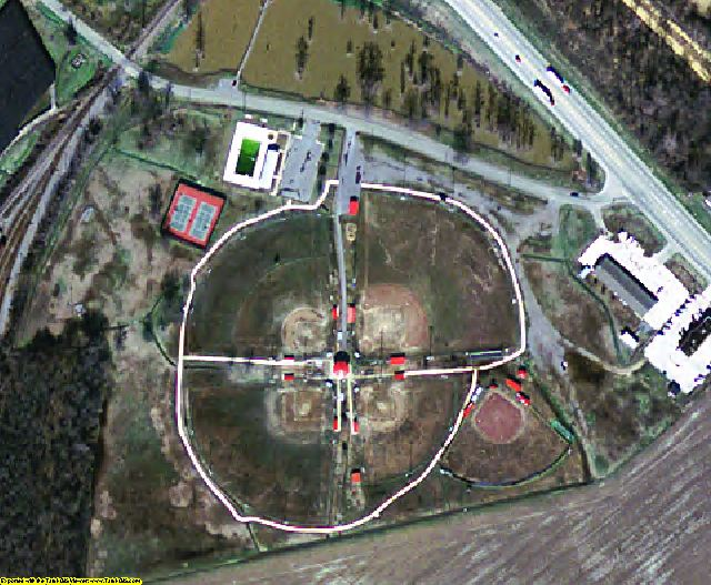 Desha County, AR aerial photography detail
