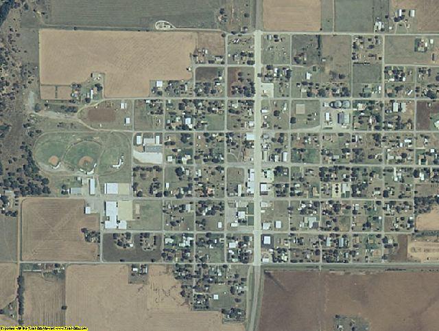 Dewey County, OK aerial photography detail