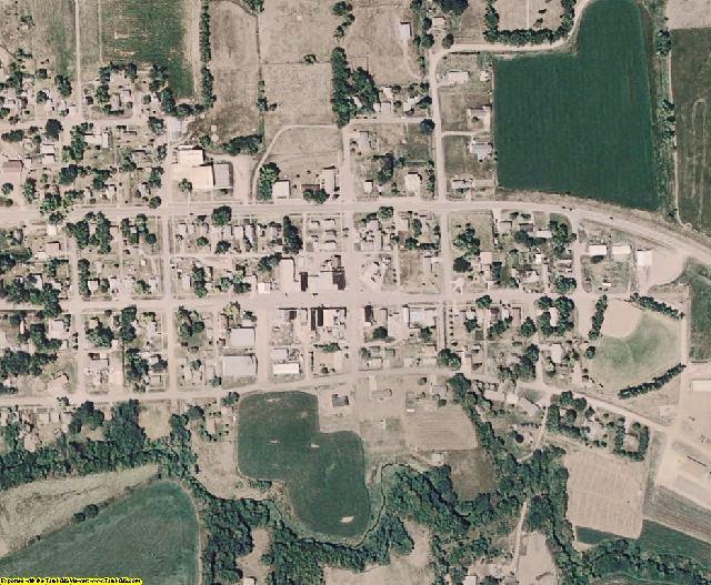 Dixon County, NE aerial photography detail