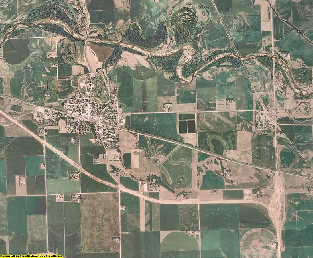 Dodge County, Nebraska aerial photography
