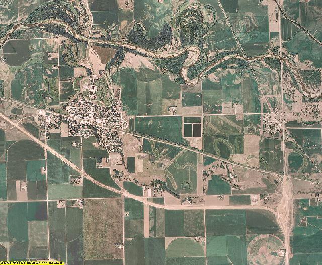 Dodge County, Nebraska aerial photography