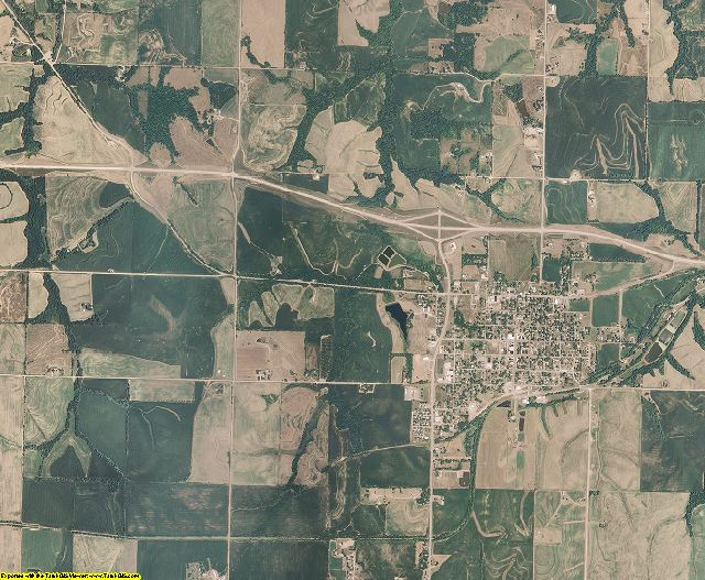Doniphan County, Kansas aerial photography