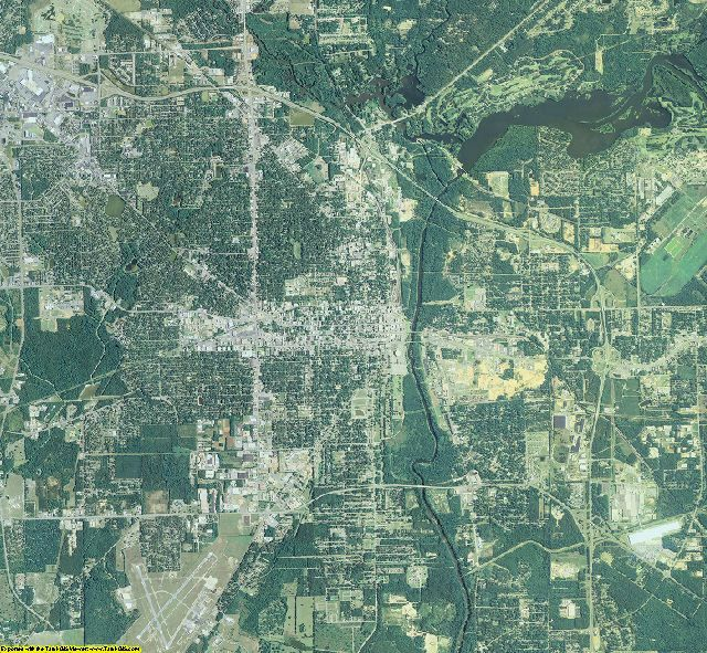 Dougherty County, Georgia aerial photography