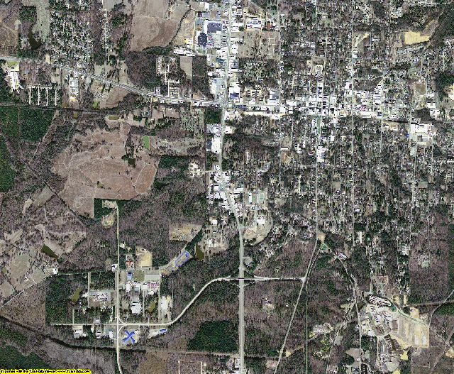 Drew County, Arkansas aerial photography