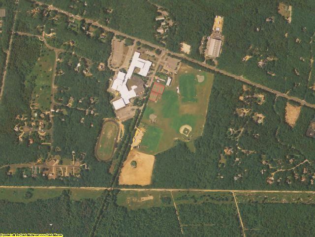 Dukes County, MA aerial photography detail