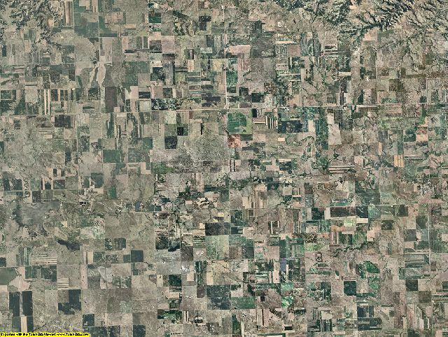 Dunn County, North Dakota aerial photography