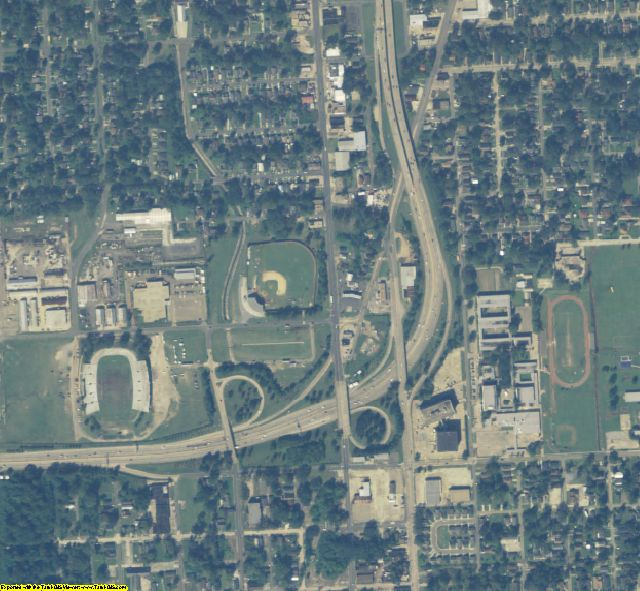 East Baton Rouge County, LA aerial photography detail