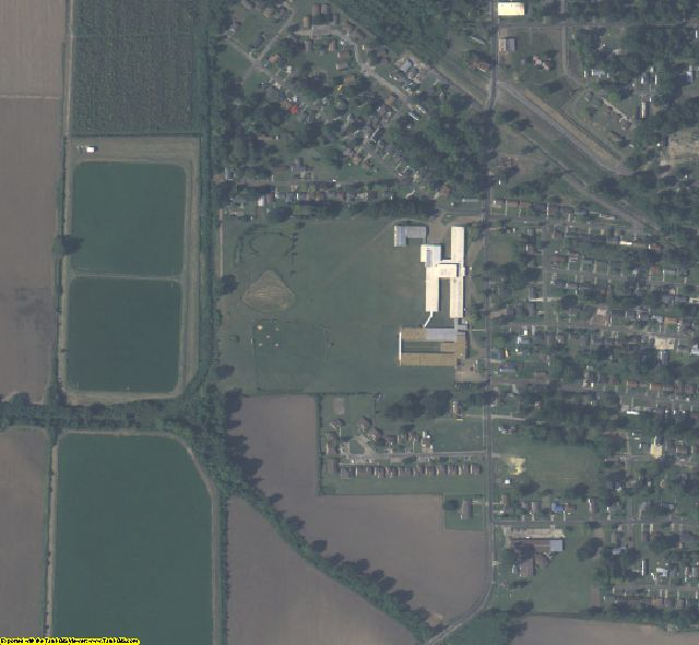 East Carroll County, LA aerial photography detail