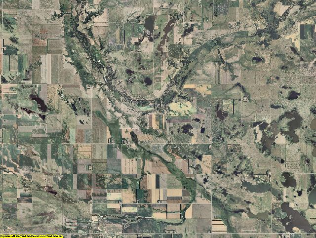 Eddy County, North Dakota aerial photography