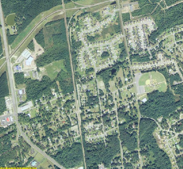 Effingham County, GA aerial photography detail
