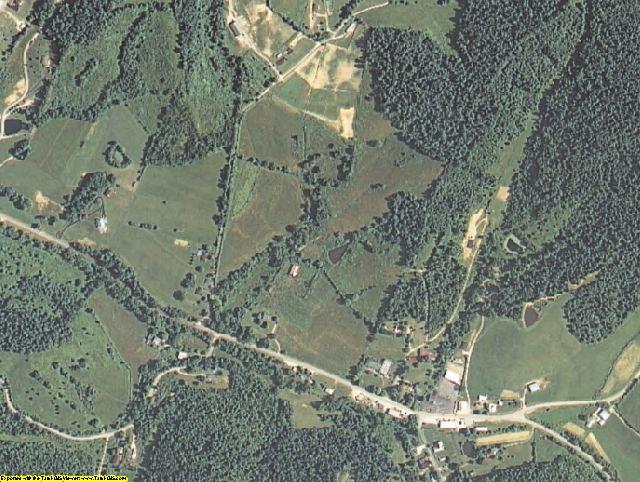 Elliott County, KY aerial photography detail