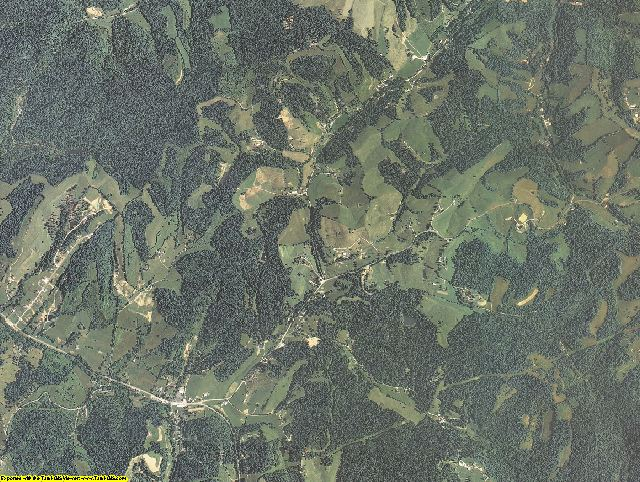 Elliott County, Kentucky aerial photography