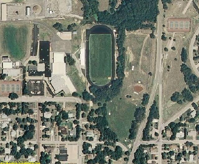 Ellsworth County, KS aerial photography detail