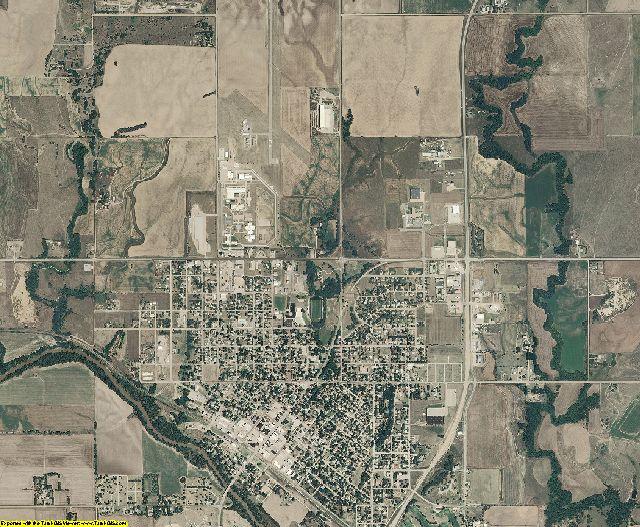 Ellsworth County, Kansas aerial photography