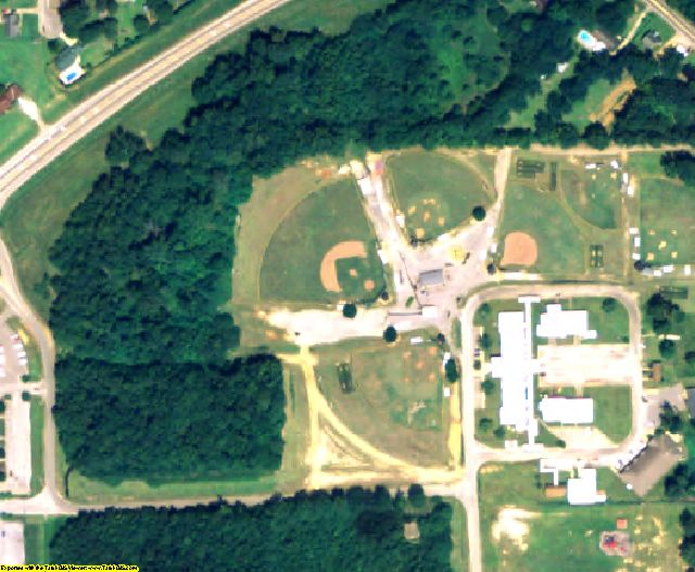 Elmore County, AL aerial photography detail