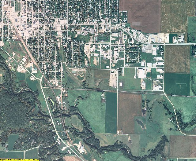 Emmet County, Iowa aerial photography