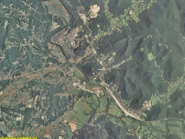 Estill County, Kentucky aerial photography