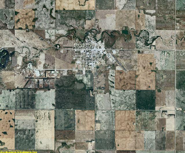 Faulk County, South Dakota aerial photography