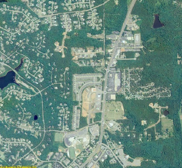 Fayette County, GA aerial photography detail