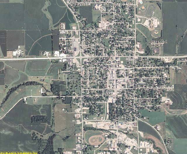 Fayette County, Iowa aerial photography