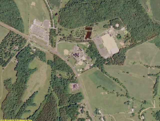 Fluvanna County, VA aerial photography detail