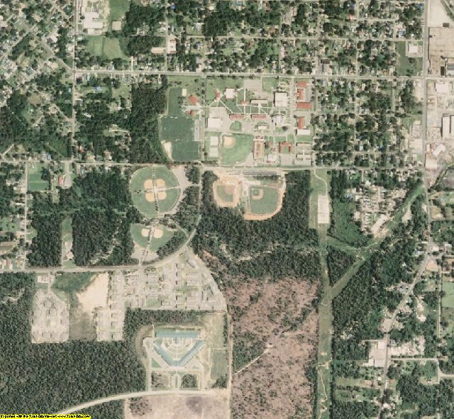 Forrest County, MS aerial photography detail