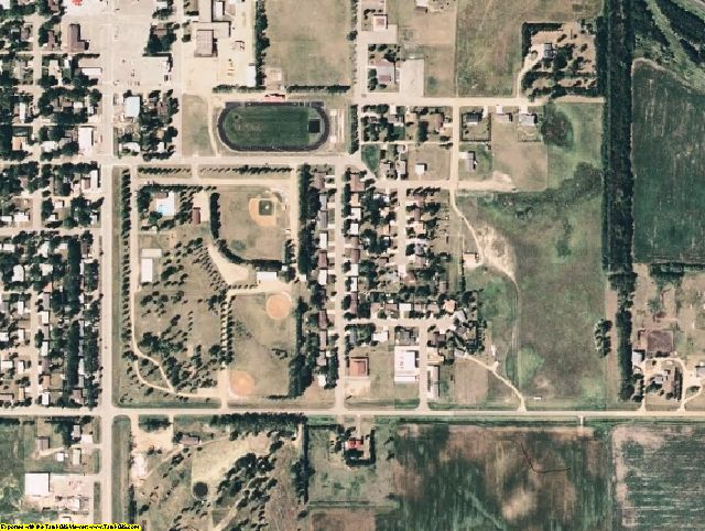Foster County, ND aerial photography detail
