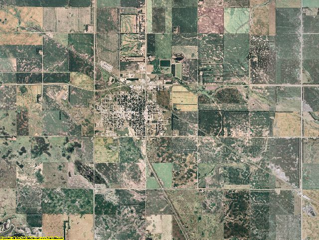 Foster County, North Dakota aerial photography